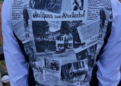 Kreative Weste mit alten Zeitungsartikeln | Hotel Quellenhof